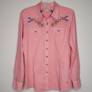 Ariat Western Cowgirl Embroidered Shirt Top